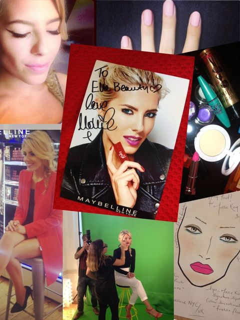 "<p>We caught up with the gorgeous Mollie King - one fifth of girl band <em>The Saturdays</em> and <a href=""http://www.maybelline.co.uk/"">Maybelline's</a> new ambassador - to chat about all things beauty for our new celebrity franchise.</p><p>Want to see e"