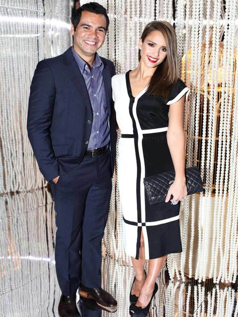 <p>Jessica Alba and Cash Warren at the Chanel party.</p>