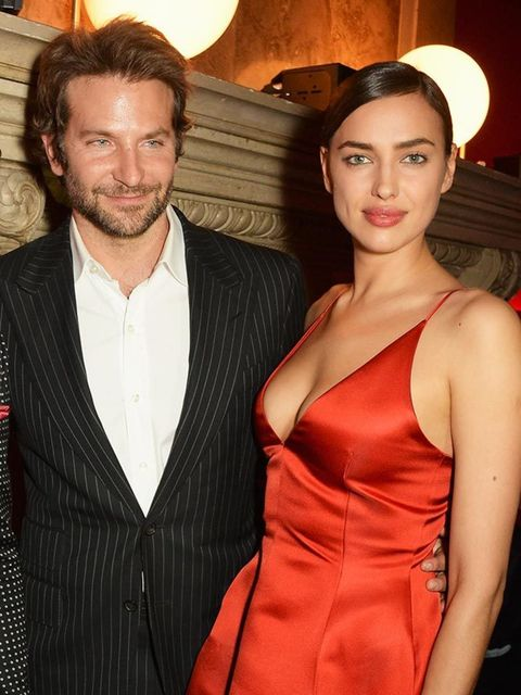 Bradley Cooper and Irina Shayk during Paris Fashion Week AW16.