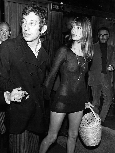 <p>Here she is with Serge Gainsbourg in 1969, looking eternally chic and cool in the kind of sheer dress that screams ss16 and would be viral red carpet clickbait today.</p>