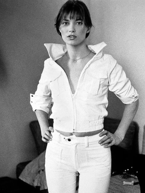 <p>An early case for head-to-toe white</p>
