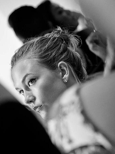 Karlie Elizabeth Kloss (@supermodelkarlie)  '#Supermodel #KarlieKloss backstage at #OscarDeLaRenta Spring RTW 2015 yesterday#NYFW // 09.09.14 // captured and regrammed from @imxavimenos, his is so beautiful'