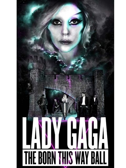 <p>Lady Gaga's official world tour poster.</p>