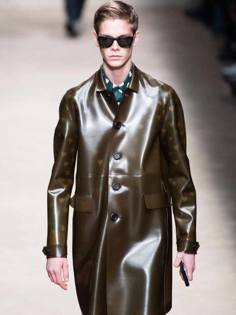 <p>See through coat at Burberry</p>