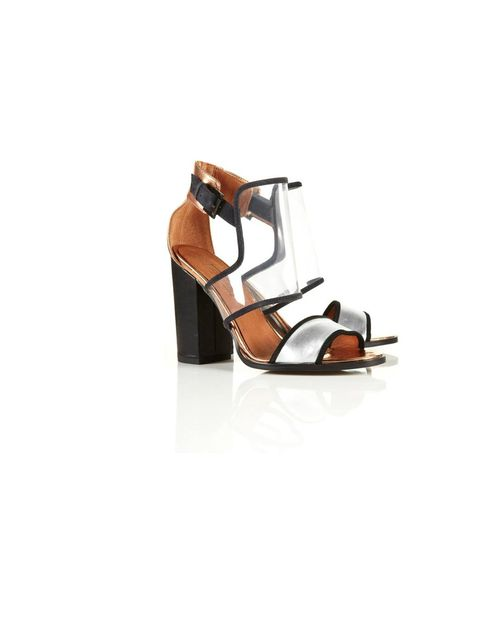 <p>Topshop perspex heels, £55, for stockists call 0845 121 4519</p>