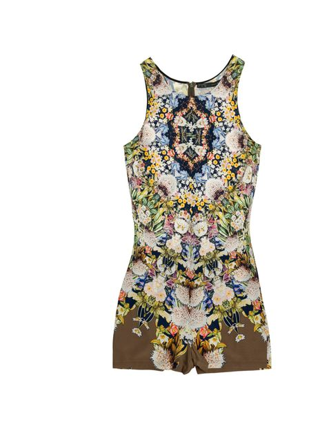 """<p>Maxed-out and clashing is the only way to wear prints this season so ramp up your look with this power plant playsuit... <a href=""""http://www.zara.com/webapp/wcs/stores/servlet/product/uk/en/zara-S2012/189503/826619/PRINTED%2BPLAYSUIT"""">Zara</a> printed"""
