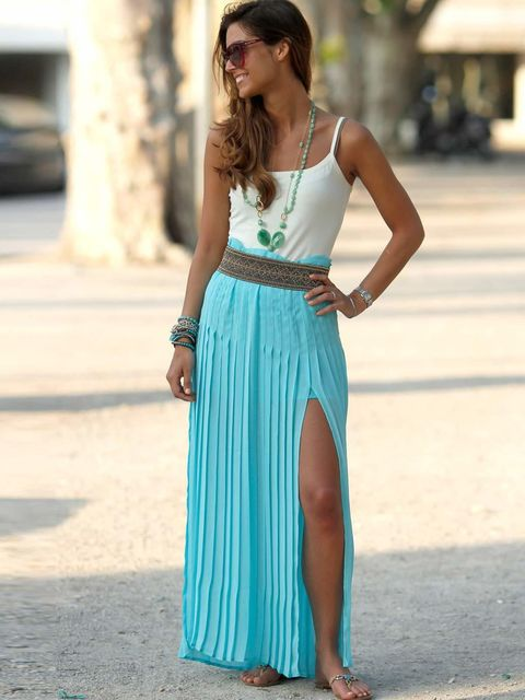 <p>Giordana, Student. Intermissini top, Pinko skirt, Zanotti sandals, Valentino sunglasses.</p><p>Photo by Anthea Simms</p>