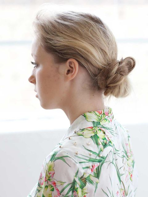 <p><strong>The Look: </strong>A plait twisted and pinned to look like a knotted bun. This is an easy look to create.</p><p><strong>Best worn at: </strong>A really versatile look this could be worn at weddings, nights out or even on the beach.</p><p><stron