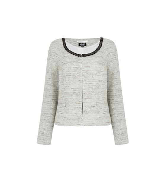 """<p>Per Una metallic jacket with chain detail, £75, at Marks & Spencer</p><p><a href=""""http://shopping.elleuk.com/browse?fts=per+una+speziale+shimmer+jacket"""">BUY NOW</a></p>"""
