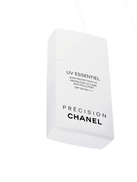 "<p>Chanel UV Essentiel SPF50, £38 at <a href=""http://www.boots.com/en/CHANEL-UV-ESSENTIEL-UV-Care-Anti-Pollution-SPF-50-PA-30ml_117536/?CAWELAID=334503703&cm_mmc=Shopping%20Engines-_-Google%20Base-_---_-CHANEL%20UV%20ESSENTIEL%20UV%20Care%20AntiPollut"