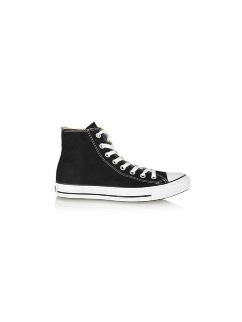 """<p>Team your summer trousers with these when you are on the go.</p><p>High top sneakers by <a href=""""http://www.net-a-porter.com/product/311584/Converse/chuck-taylor-canvas-high-top-sneakers"""">Converse</a>, £45</p>"""