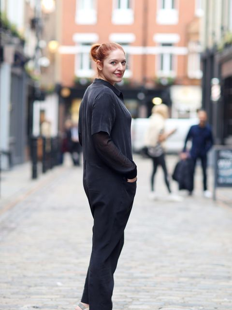 <p>Natasha Pearlman – Deputy Editor</p>  <p>Cos jumpsuit, French Connection top, Nicholas Kirkwood shoes.</p>