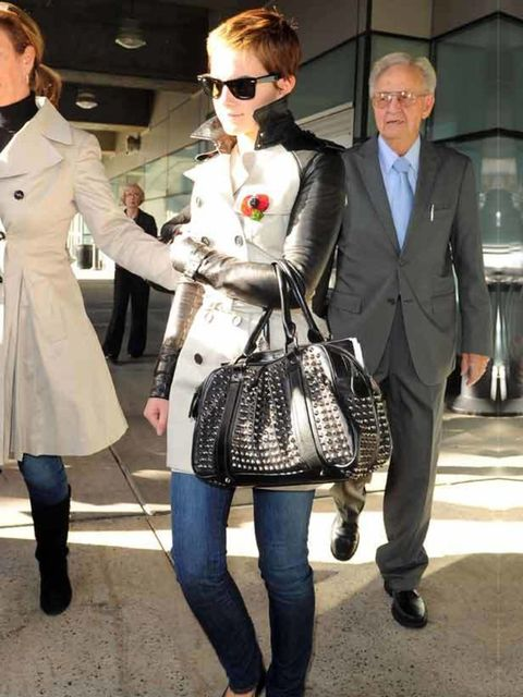 """<p><a href=""""http://www.elleuk.com/starstyle/style-files/%28section%29/emma-watson"""">Emma Watson</a> wearing one of the first ever bespoke <a href=""""http://www.elleuk.com/catwalk/collections/burberry-prorsum/spring-summer-2011/review"""">Burberry</a> trench coa"""