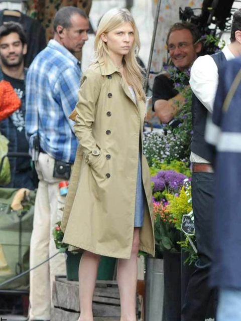 """<p><a href=""""http://www.elleuk.com/starstyle/style-files/%28section%29/clemence-poesy"""">Clemence Poesy</a> keeping her trench classic and ladylike </p>"""