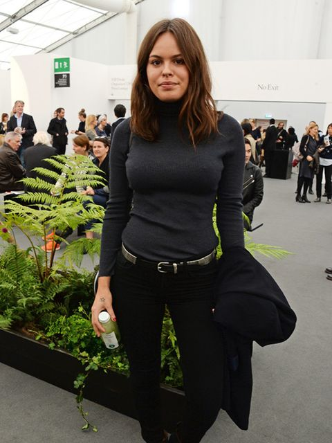 Atlanta de Cadenet attends VIP preview of Frieze Art Fair in London, October 2014