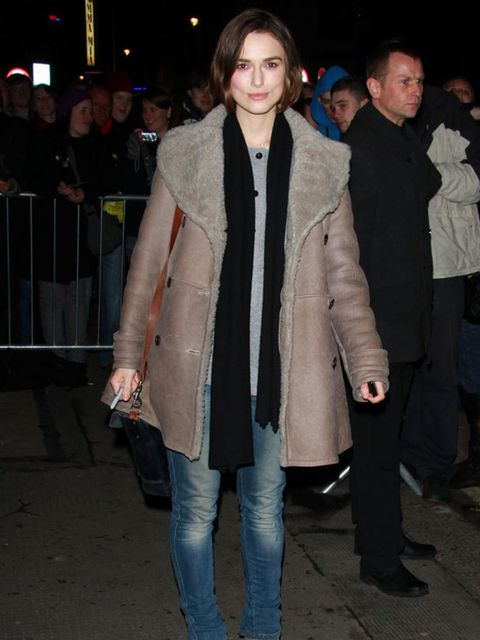 """<p><a href=""""http://www.elleuk.com/starstyle/style-files/%28section%29/Keira-Knightley"""">Keira Knightley</a> wearing her suede ankle boots with a <a href=""""http://www.elleuk.com/catwalk/collections/burberry-prorsum/"""">Burberry</a> coat while in London</p>"""