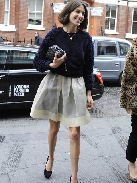 "<p><a href=""http://www.elleuk.com/starstyle/style-files/%28section%29/Alexa-Chung"">Alexa Chung</a> arriving at the <a href=""http://www.elleuk.com/catwalk/collections/erdem/"">Erdem</a> show during London Fashion Week, February 2011</p>"