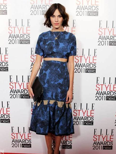 """<p><a href=""""http://www.elleuk.com/starstyle/style-files/%28section%29/Alexa-Chung"""">Alexa Chung</a> wearing an <a href=""""http://www.elleuk.com/catwalk/collections/yves-saint-laurent/spring-summer-2011/review"""">Yves Saint Laurent</a> dress at the <a href=""""htt"""