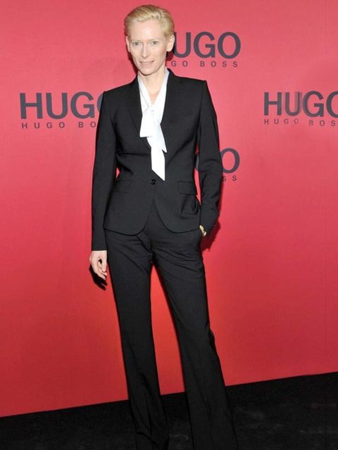 <p>Tilda Swinton at the Hugo Boss AW11 show in Berlin, 20 January 2011</p>