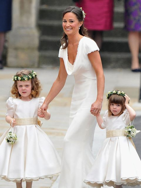 "<p>Pippa Middleton wearing a <a href=""http://www.elleuk.com/catwalk/collections/alexander-mcqueen/"">Sarah Burton for Alexander McQueen</a> dress</p>"