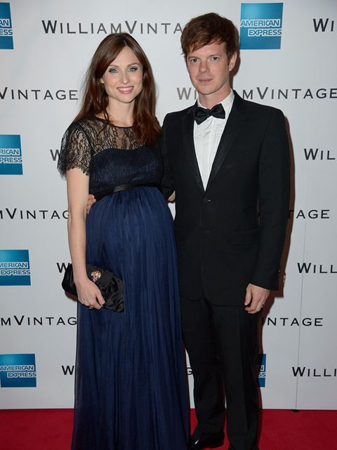 <p>Sophie Ellis Bextor and Richard Jones attends the WilliamVintage Dinner during London Fashion Week, September 2015.</p>