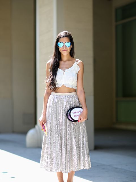 <p>Anahita Moussavian wears Sretsis top, Alice and Olivia skirt, Wildfox glasses, Vans trainers, Sophia Webster bag.</p>  <p> </p>