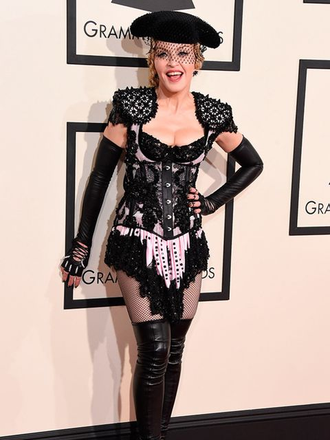 Madonna attends 57th Annual Grammy Awards, 2015.
