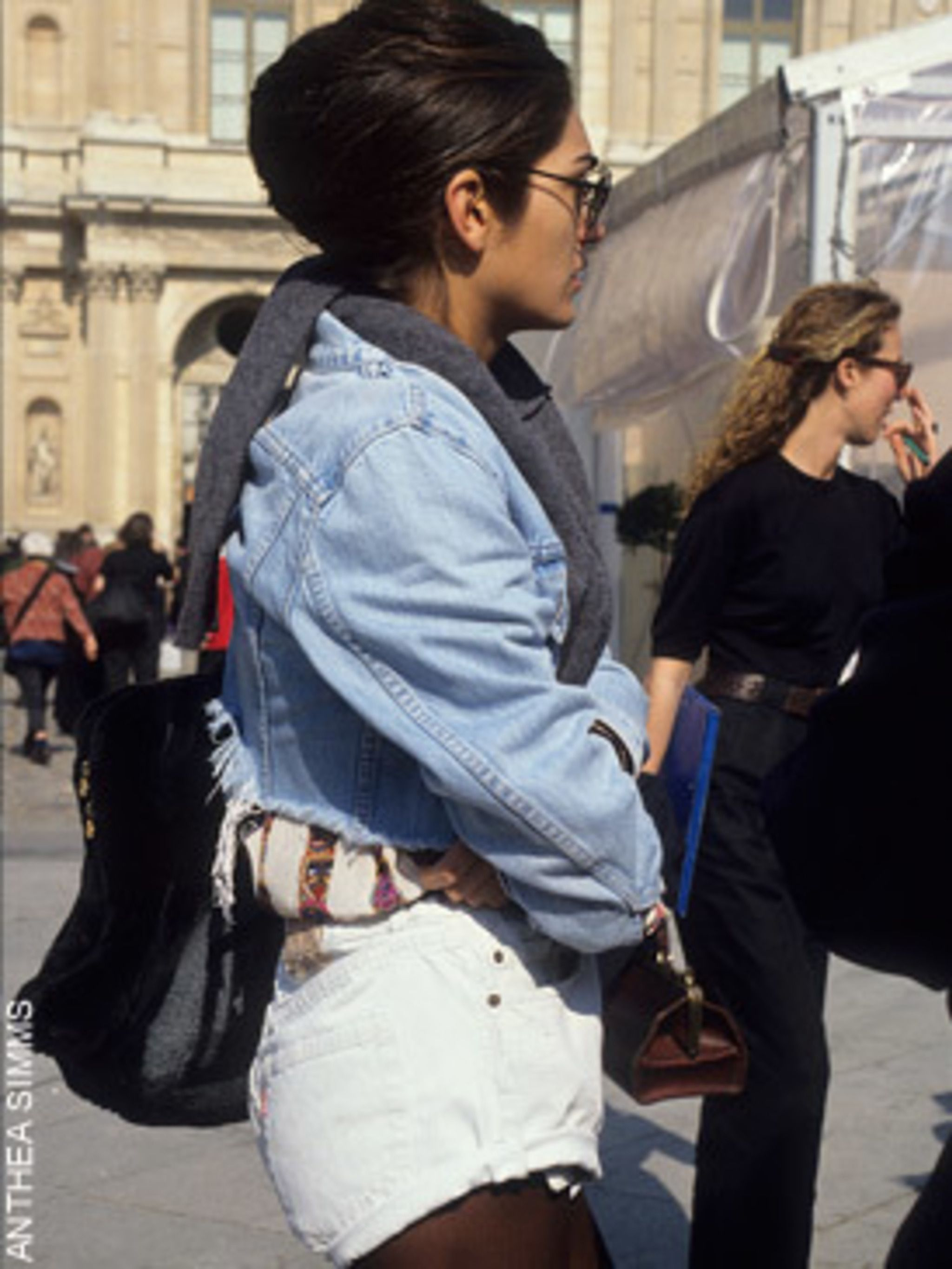 "<p> High waisted, faded <a href=""http://www.elleuk.com/starstyle/celebrity-trends/%28section%29/everyone-s-wearing-denim-shorts2"">denim shorts</a> have been ubiquitous at this summer's festivals and in the capital of late. Back then, they were worn with c"