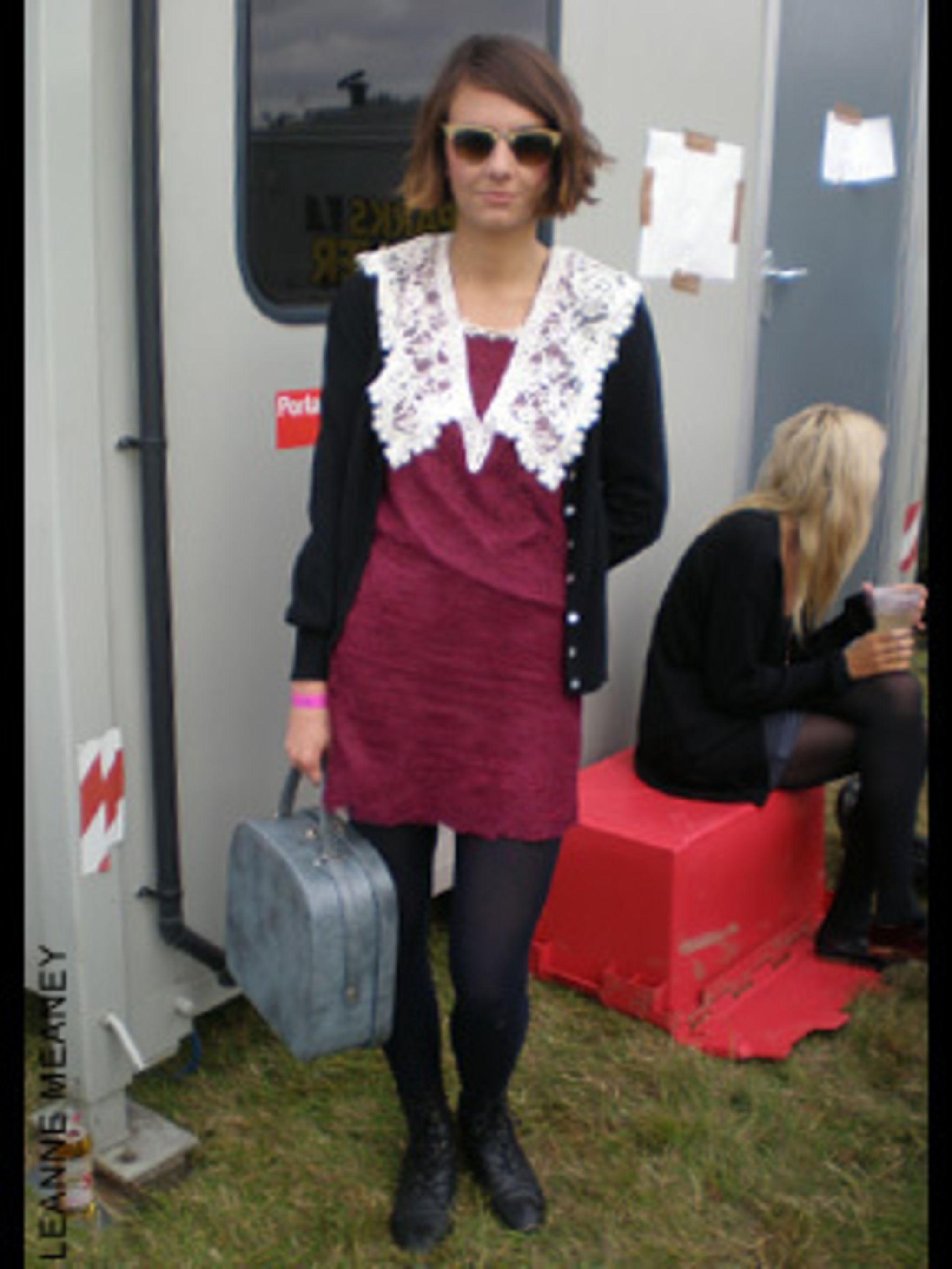 <p>Harry Webb, a 23 year old who works in Fashion PR is wearing a Dress from Beyond Retro, Boot's from Clarks and a vintage Bag.</p>