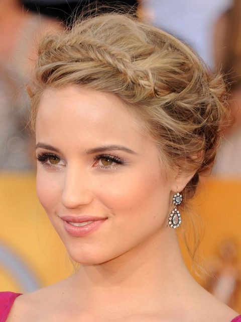 <p>Adir Abergel created this fishtail braid up-do for Dianna</p>