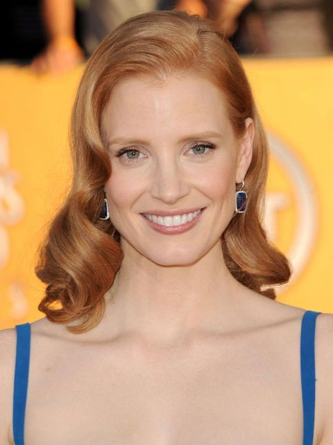 <p>Jessica Chastain at the 2012 SAG Awards</p>