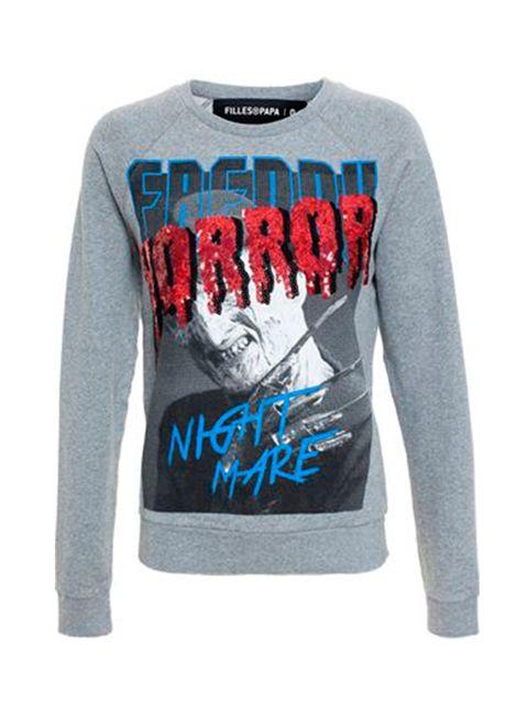 "<p><a href=""http://shop.fillesapapa.com/what-s-new/kennedy-sweatshirt.html"" target=""_blank"">Filles a Papa</a> sweatshirt, £115</p>"
