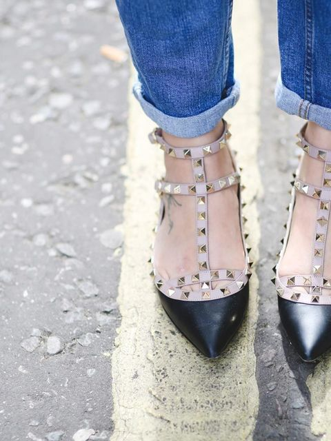<p>Sophie Beresiner, Beauty Director</p>  <p> Valentino shoes</p>