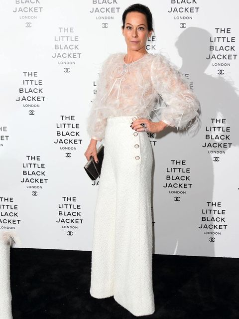 <p>Amanda Harlech at the Chanel Little Black Jacket Private View</p>