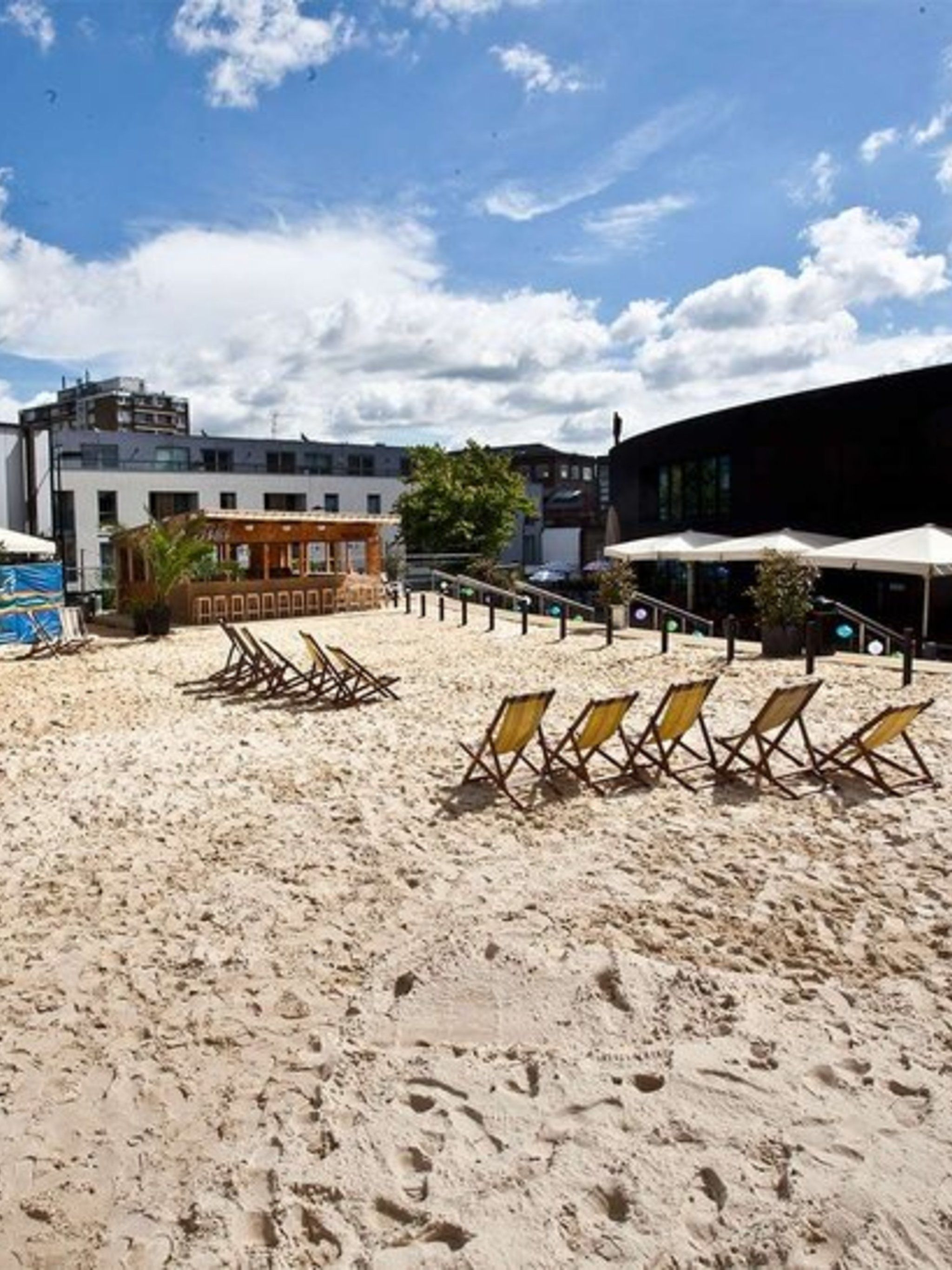 DAY OUT: Camden Beach    Summer in the city missing that certain something?  Get down to Camden, where from this Saturday the Roundhouse presents Camden Beach, a slice of sandy paradise nestled in the heart of NW1.  Tucked away on a sunny terrace, the 900
