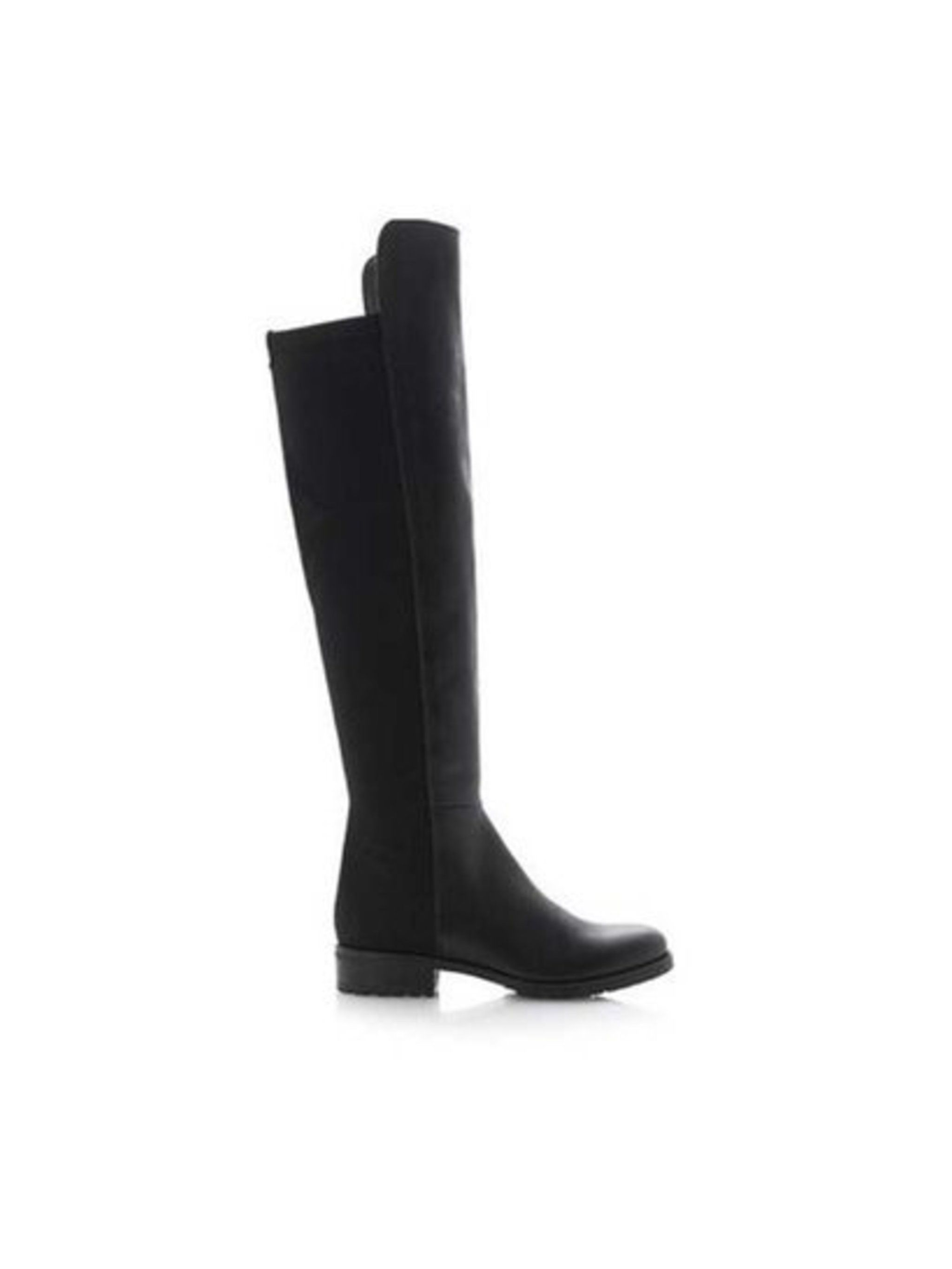 Market & Retail Editor Harriet Stewart pairs her over-the-knee boots with an oversized shirt dress.  Dune boots, £149
