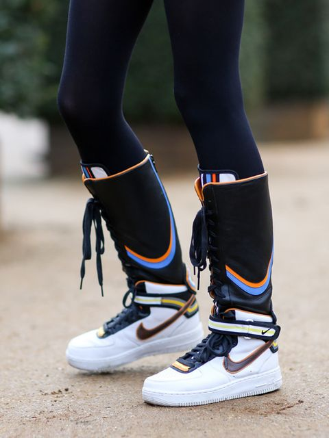 <p>Anna K</p>  <p>Nike trainers.</p>