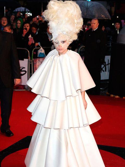 <p>Lady Gaga in a Francesco Scognamiglio over coat </p>