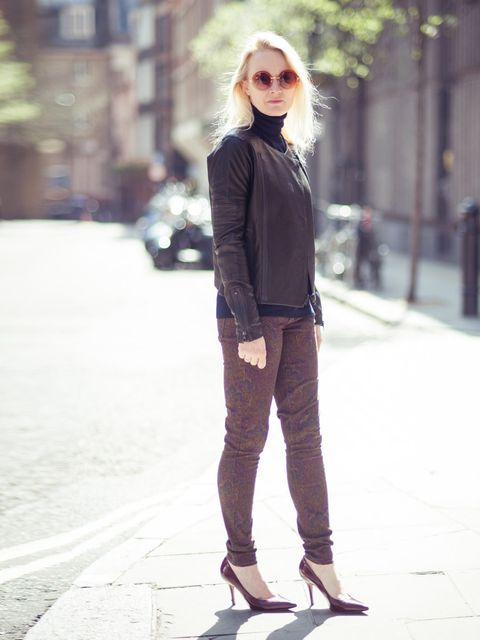 "<p>Lorraine Candy - Editor-in-Chief:J Brand Jacket, Cos jumper, Donna Ida jeans, <a href=""http://www.elleuk.com/catwalk/designer-a-z/celine/autumn-winter-2013/collection"">Celine</a> shoe and <a href=""http://www.elleuk.com/fashion/accessories-report/autumn"