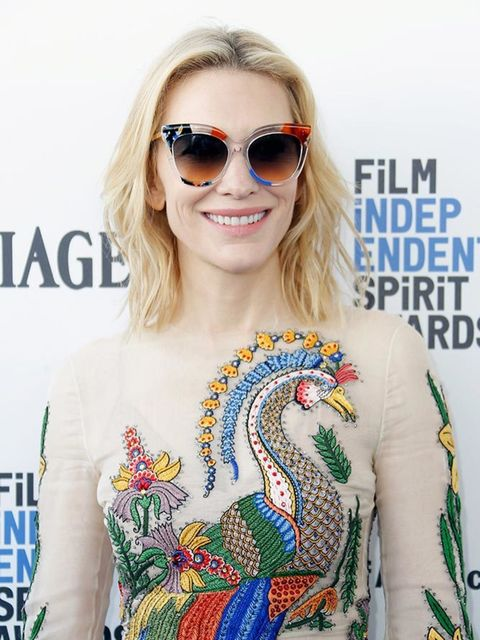 Cate Blanchett wearing a pair of Fendi Jungle sunglasses at the Independent Spirit Film Awards in California, March 2016.