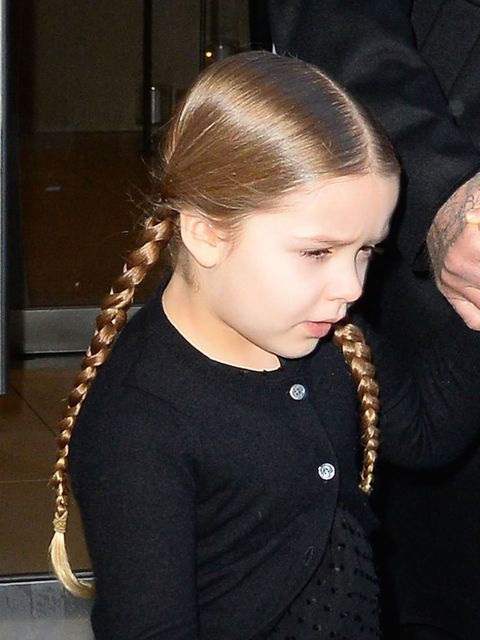 Harper Beckham out and about before the Victoria Beckham AW16 show in New York, February 2016.