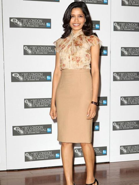 "<p><a href=""http://www.elleuk.com/starstyle/red-carpet/%28section%29/The-BAFTA-s-2009/%28offset%29/0/%28img%29/243265"">Freida Pinto</a> wearing a nude <a href=""http://www.elleuk.com/catwalk/collections/christian-dior/"">Christian Dior</a> skirt </p>"