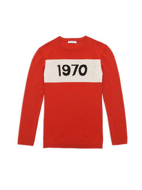 "<p>Bella Freud</p>  <p>Great for fine knits with bold slogans, like this 1970 jumper. Just add denim and that's your weekend wardrobe sorted.</p>  <p>£270, by <a href=""http://www.bellafreud.com/1970-jumper-red.html"">Bella Freud</a></p>"