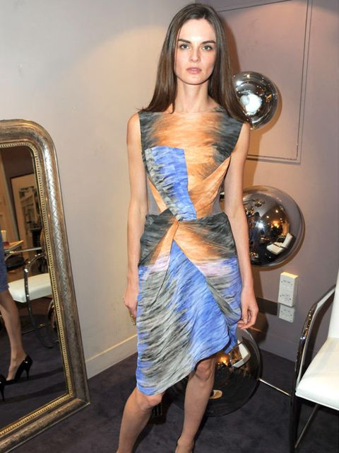 "<p>Anouck Lepere wearing <a href=""http://www.elleuk.com/catwalk/collections/peter-pilotto/spring-summer-2010/review"">Peter Pilotto</a> </p>"