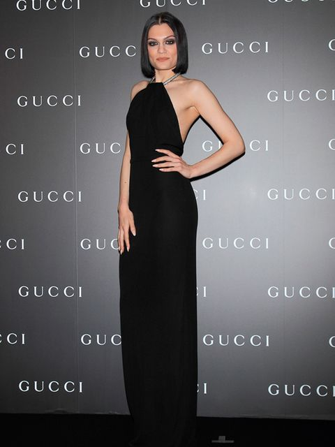 Jessie wearing Gucci to Gucci's 50th anniversary in Japan, October 2014.
