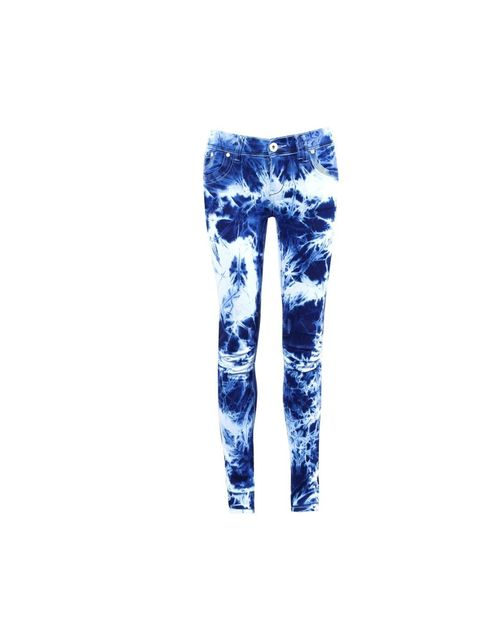 "<p><a href=""http://www.axparis.co.uk/products/Tie-Dye-Rouched-Knee-Detail-Jean.html"">AX Paris</a> tie dye jeans, £28</p>"
