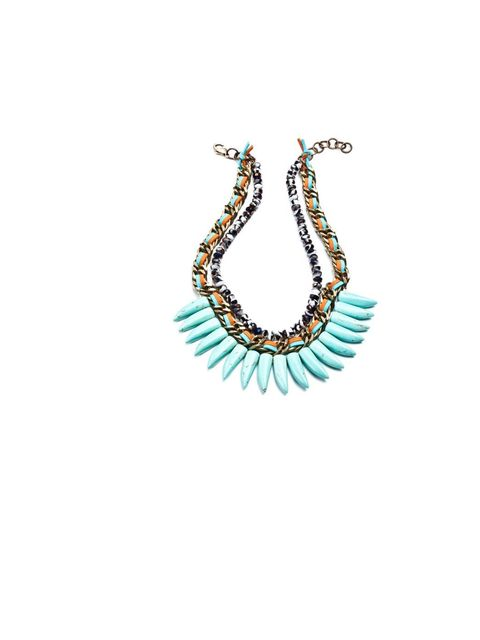 "<p><a href=""http://www.dannijo.com/"">Dannijo</a> 'Rogan' necklace, £470</p>"