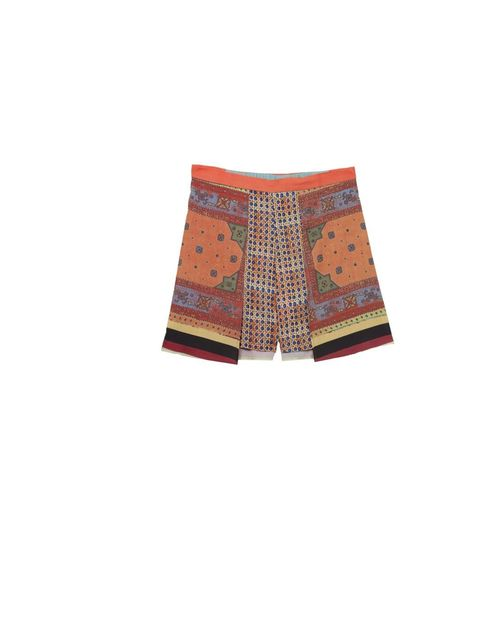 "<p>Clover Canyon scarf print shorts, £170, at <a href=""http://www.oxygenboutique.com/p-1001-cane-scarf-shorts.aspx"">Oxygen Boutique</a></p>"