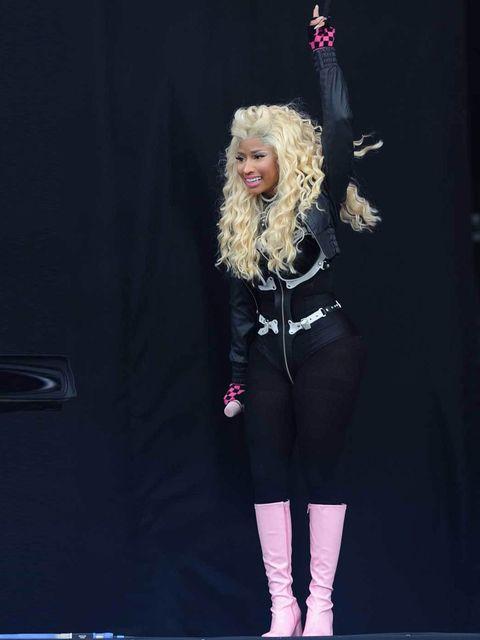 <p>Nicki Minaj performs on stage at at Radio 1's Hackney Weekend</p>