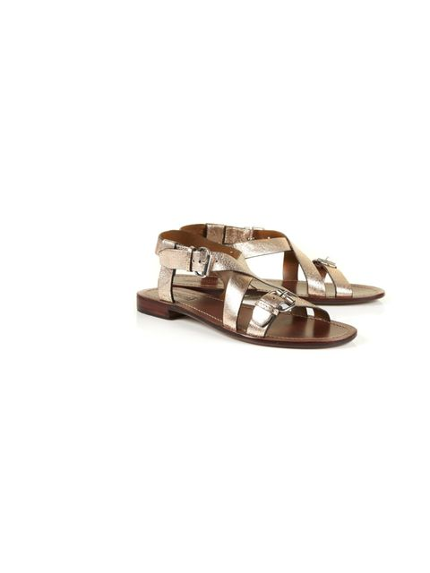 "<p>Topshop metallic strappy sandals, £38</p><p><a href=""http://shopping.elleuk.com/browse?fts=topshop+florida+sandals"">BUY NOW</a></p>"